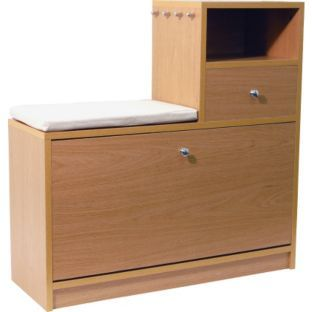 buy hall table with shoe storage oak at argoscouk your