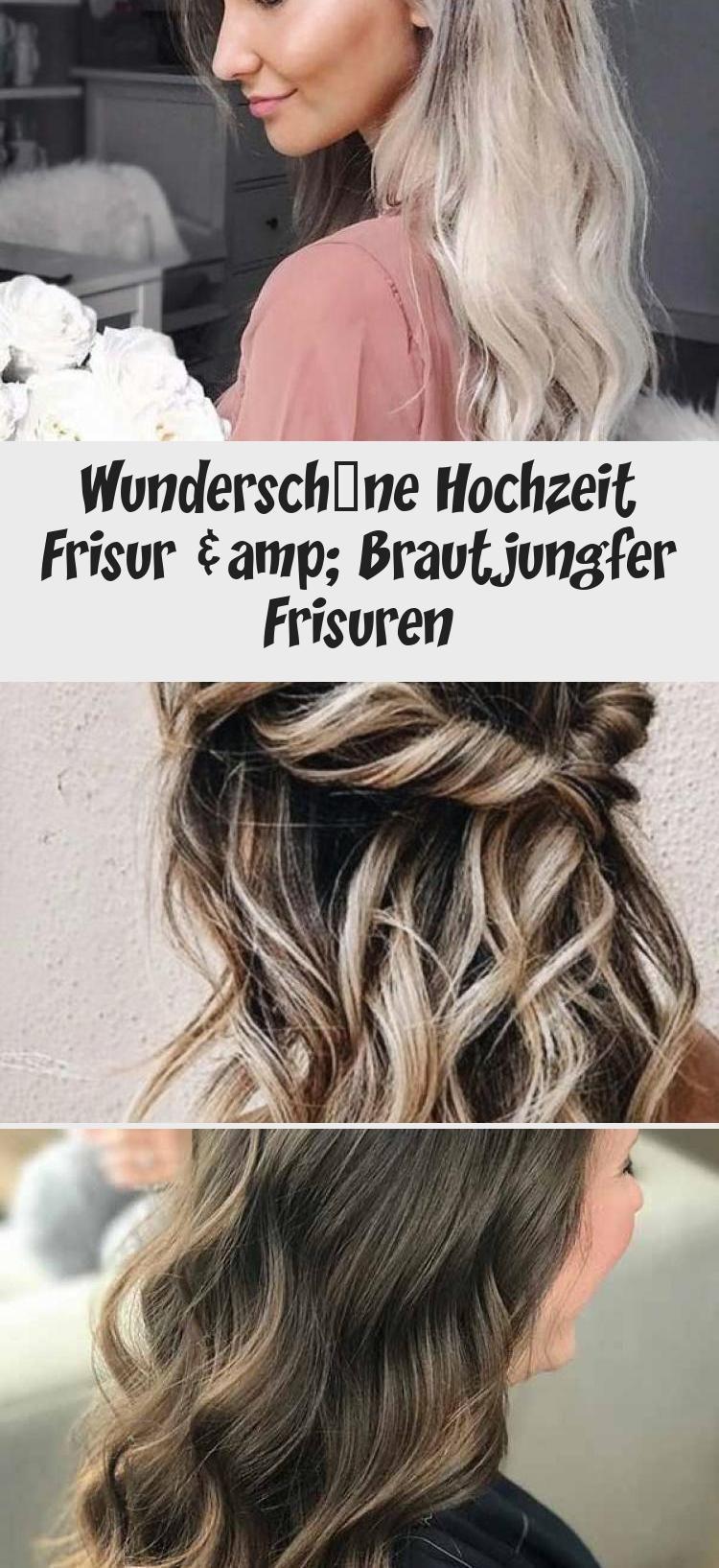 Wunderschone Hochzeit Frisur Brautjungfer Frisuren Long Hair Styles Bridesmaid Hair Styles