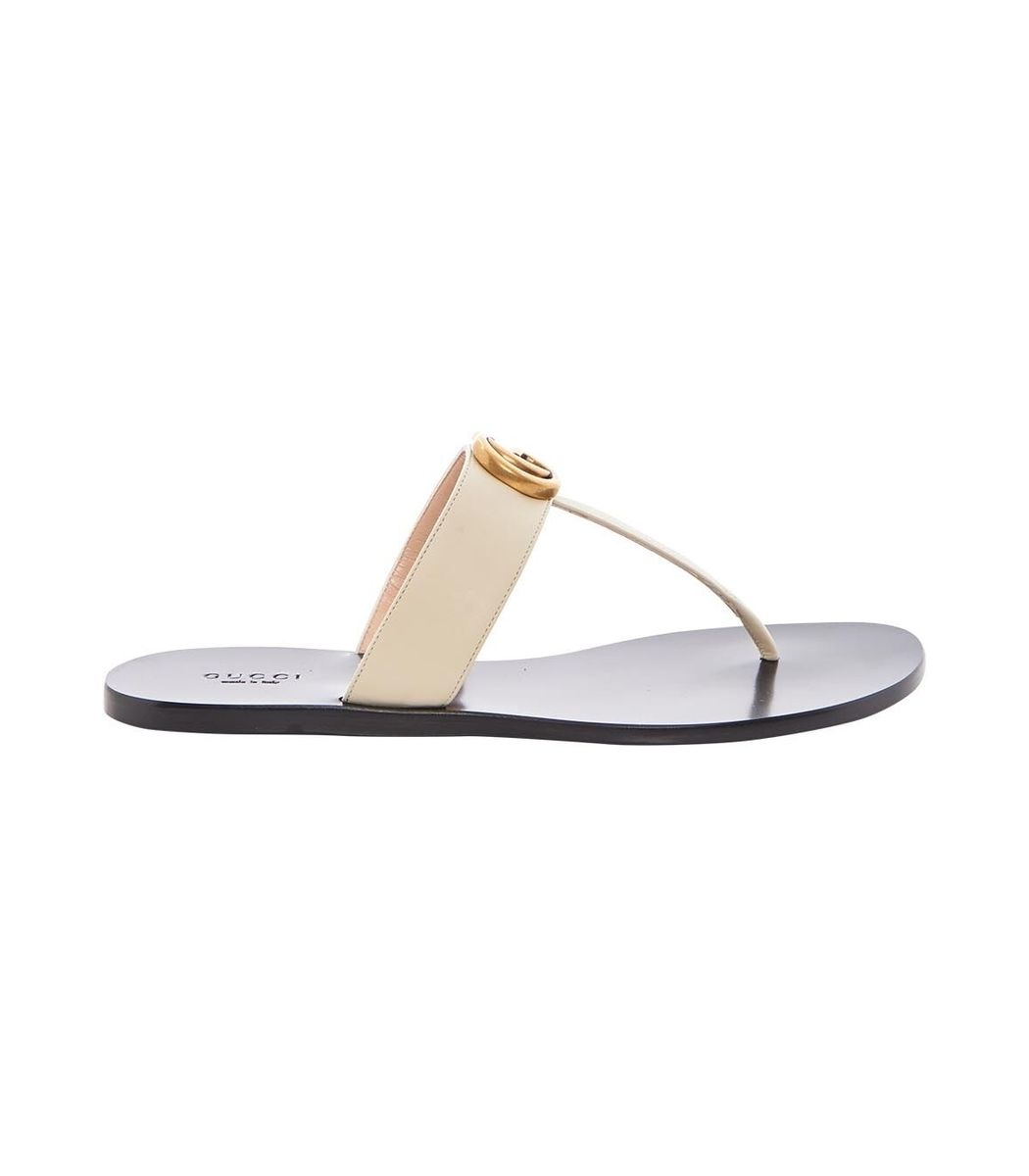3e2c4dbac GUCCI Multicolor Leather Thong Sandal with Double G.  gucci  shoes ...