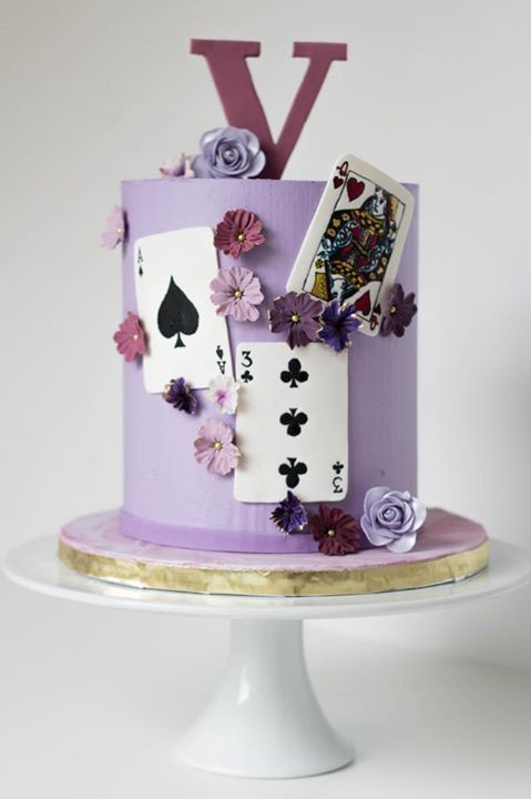 playing cards and the colour purple