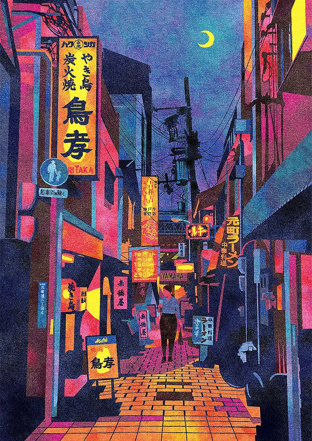 Ordinary Street Scenes of Japan Illustrated by Masashi Shimakawa   Spoon & Tamago