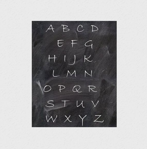 Alphabet print Alphabet letters Typographic print by hedehede, $3.00