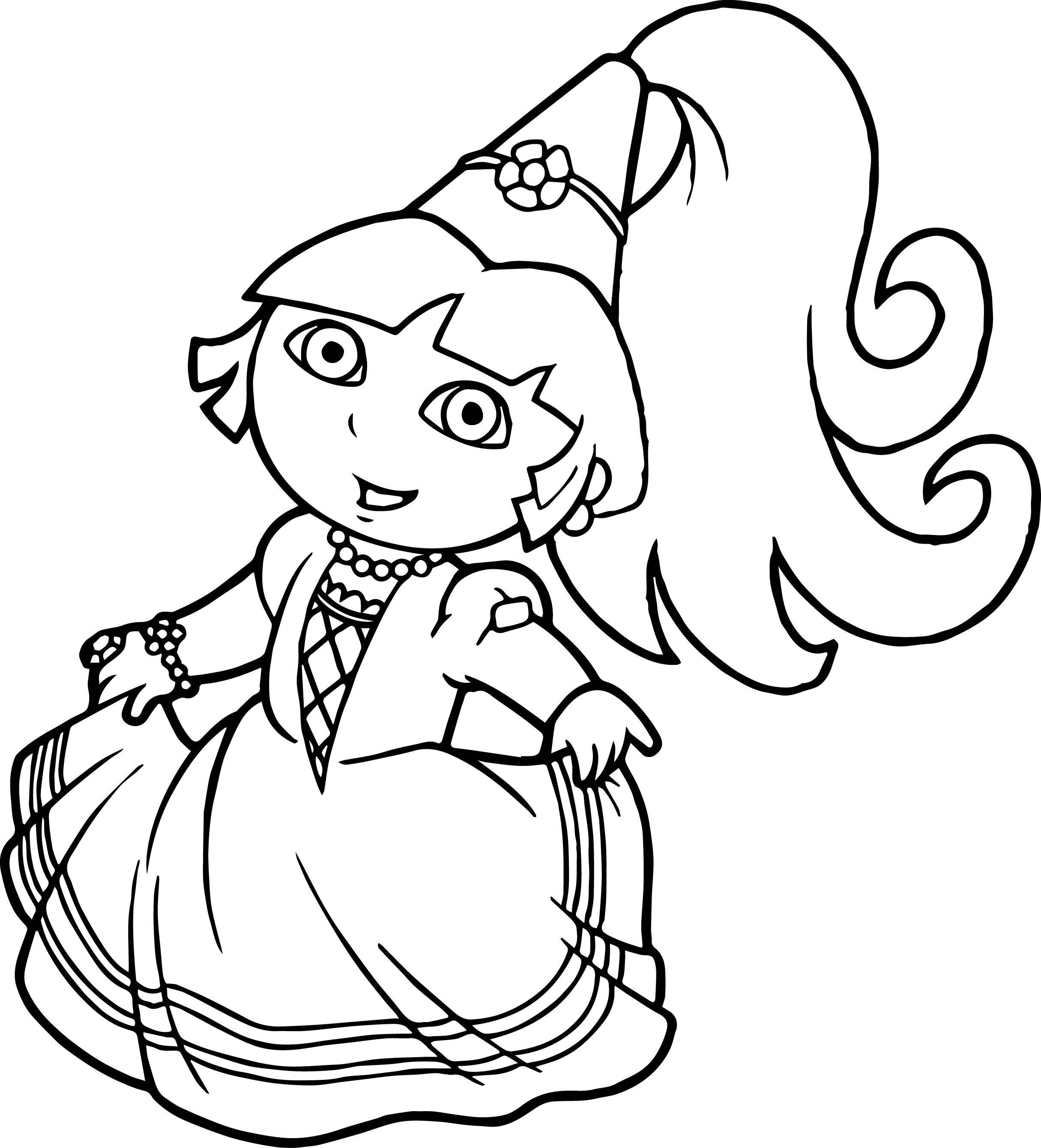 22 Awesome Picture Of Dora Coloring Pages Davemelillo Com Princess Coloring Pages Dora Coloring Halloween Coloring Pages