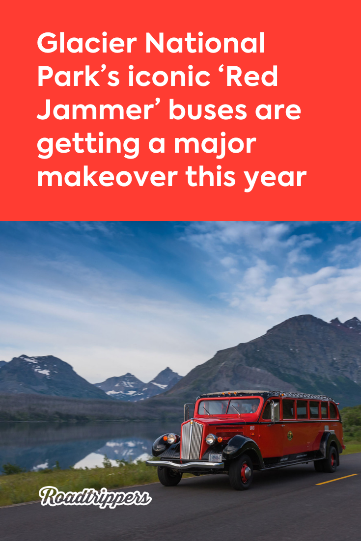 Jammer buses glacier national park , jammer fun world