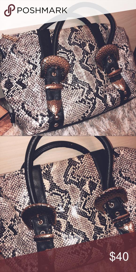 Purse Bag Faux Snake Skin Bags