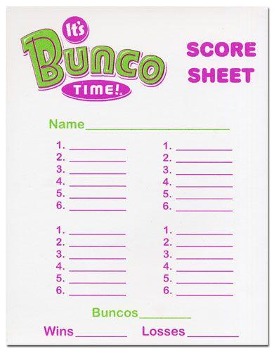 Christmas Bunco Score Sheet Template - Invitation Templates BUNCO