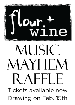 Tickets can be purchased at flour + wine and Hadley Middle school. The drawing for Steve Vai's personally autographed guitar will be on February 15th, 2013. $5 each.