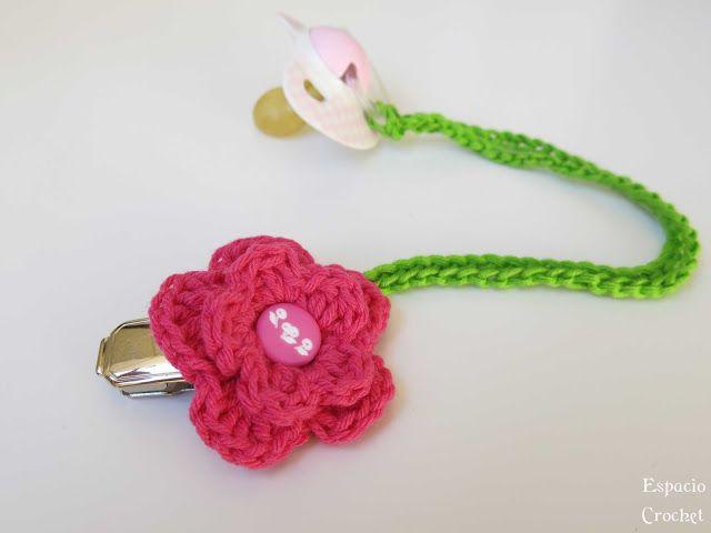Chupetero con patrón. Espacio Crochet | crochet | Pinterest ...