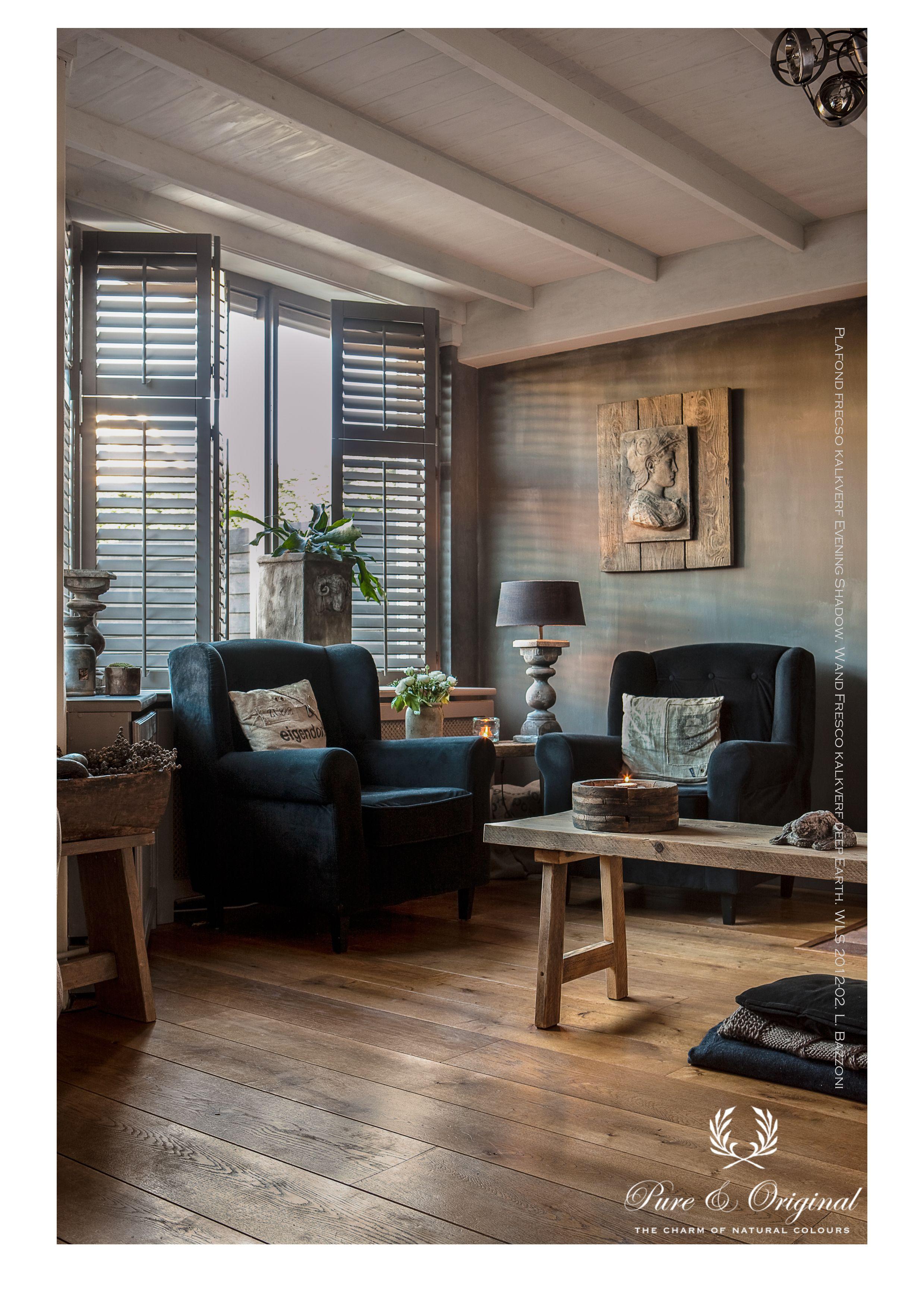 Living room with Lime Paint kalkverf van