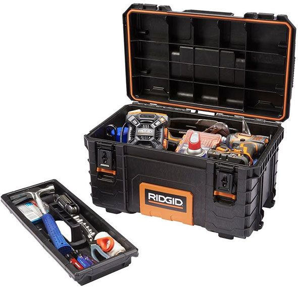 ridgid pro tool box filled with tools | 工具箱 in 2018 | pinterest ...