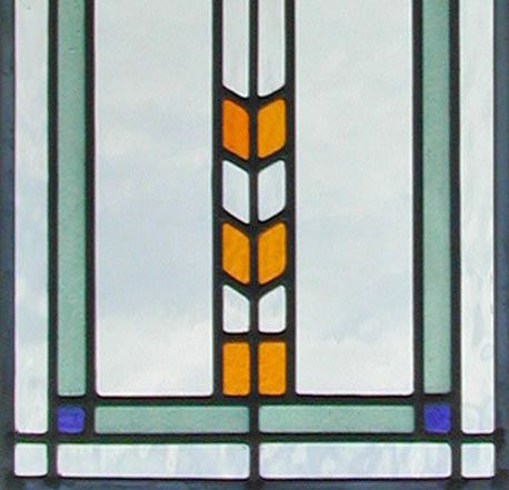 custom leaded stained glass window inspired by frank lloyd wright custom glass design