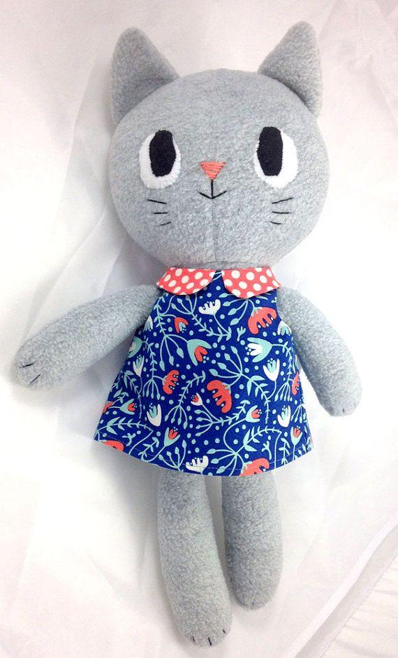 Kitty Kitten cat rag doll sewing pattern, soft toy plushie