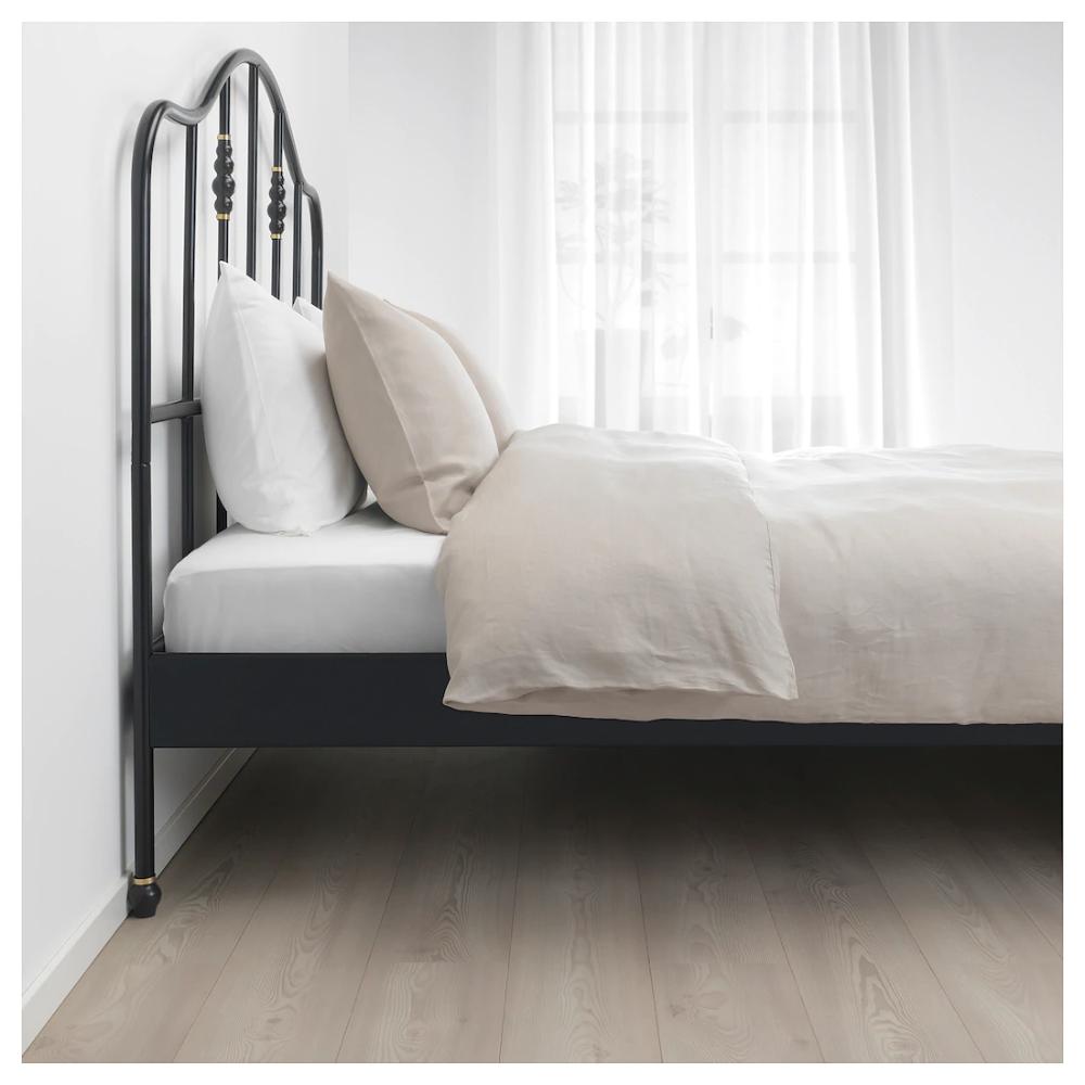 IKEA SAGSTUA Black, Luröy Bed frame Bed frame, Comfort
