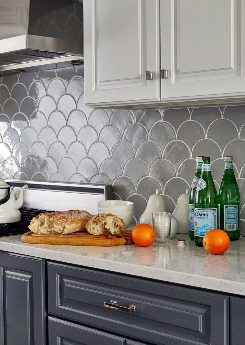 Tremendous Before After Grey Moroccan Fish Scale Backsplash Dream Complete Home Design Collection Barbaintelli Responsecom