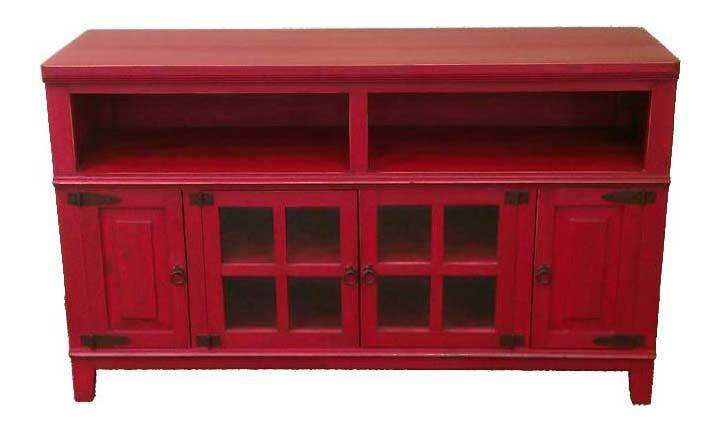 Hacienda 60 Rustic Antique Red Plasmatv Stand