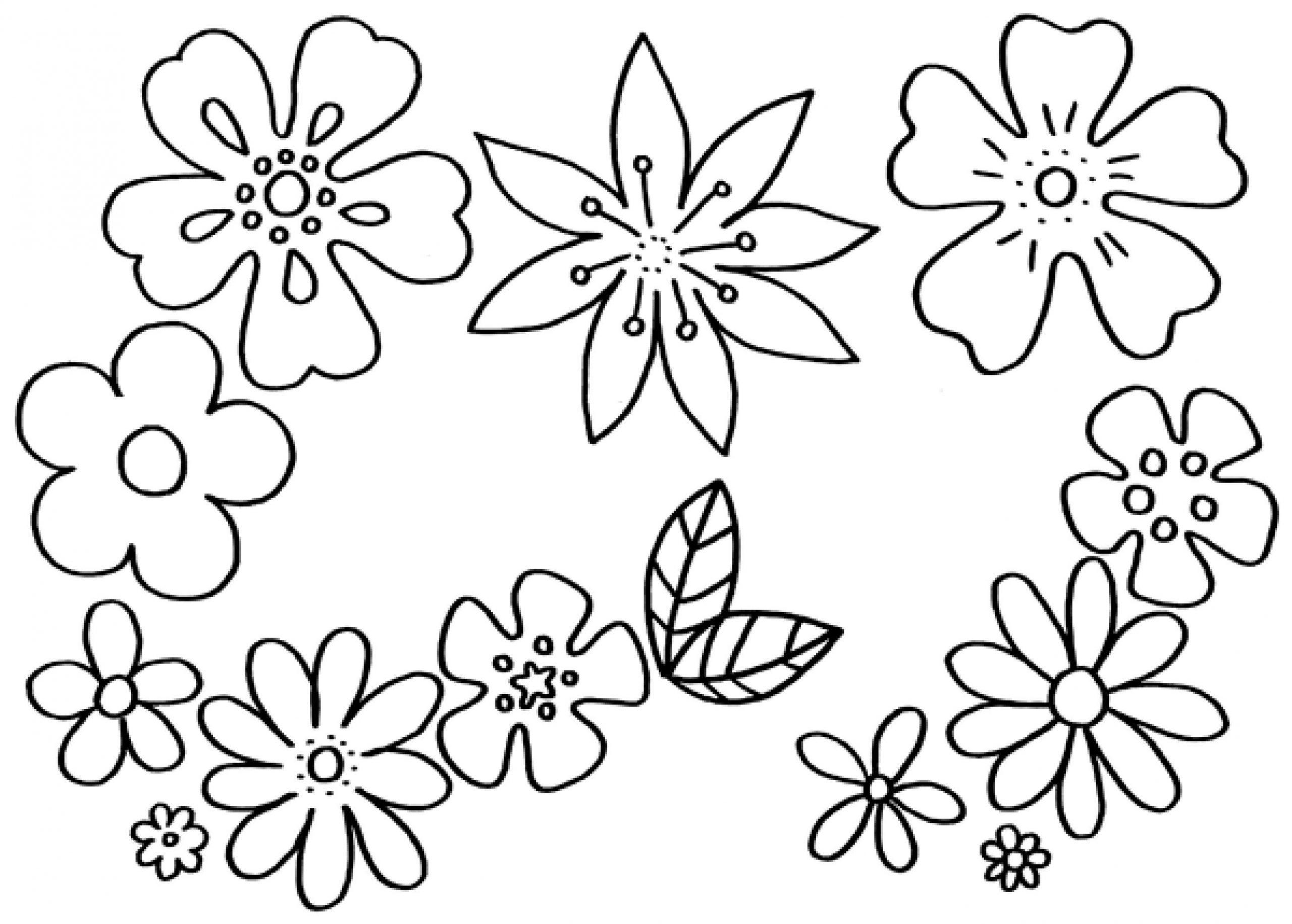 Blumenbilder Malvorlagen