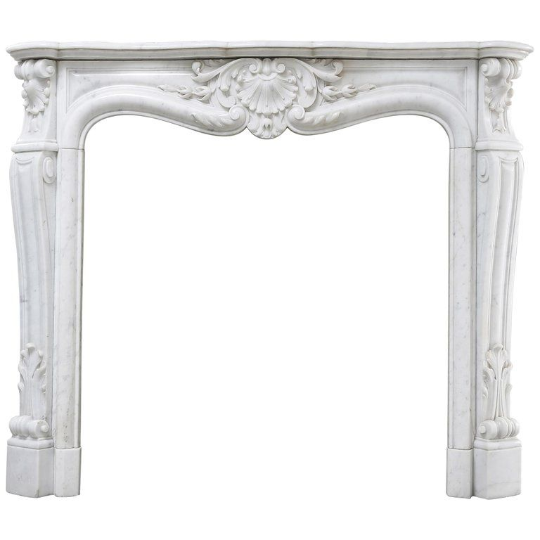 Antique Marble Fireplace Of Carrara Marble Louis Xv 19th Century Marble Fireplaces Carrara Marble Marble
