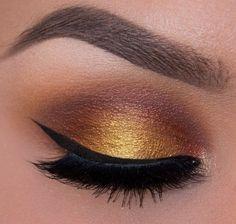 Maquillaje Para Pieles Morenas Ojos Ahumados Con Amarillo Fall Eye Makeup Easy Eye Makeup Tutorial Eye Makeup Tutorial