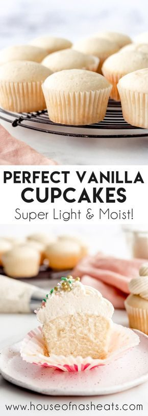 Pin On Vanilla Cupcakes With Sour Cream
