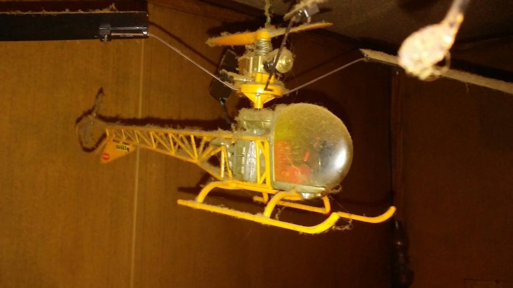 VINTAGE 70S COX SKY COPTER 020 ENGINE POWERED FREE FLIGHT