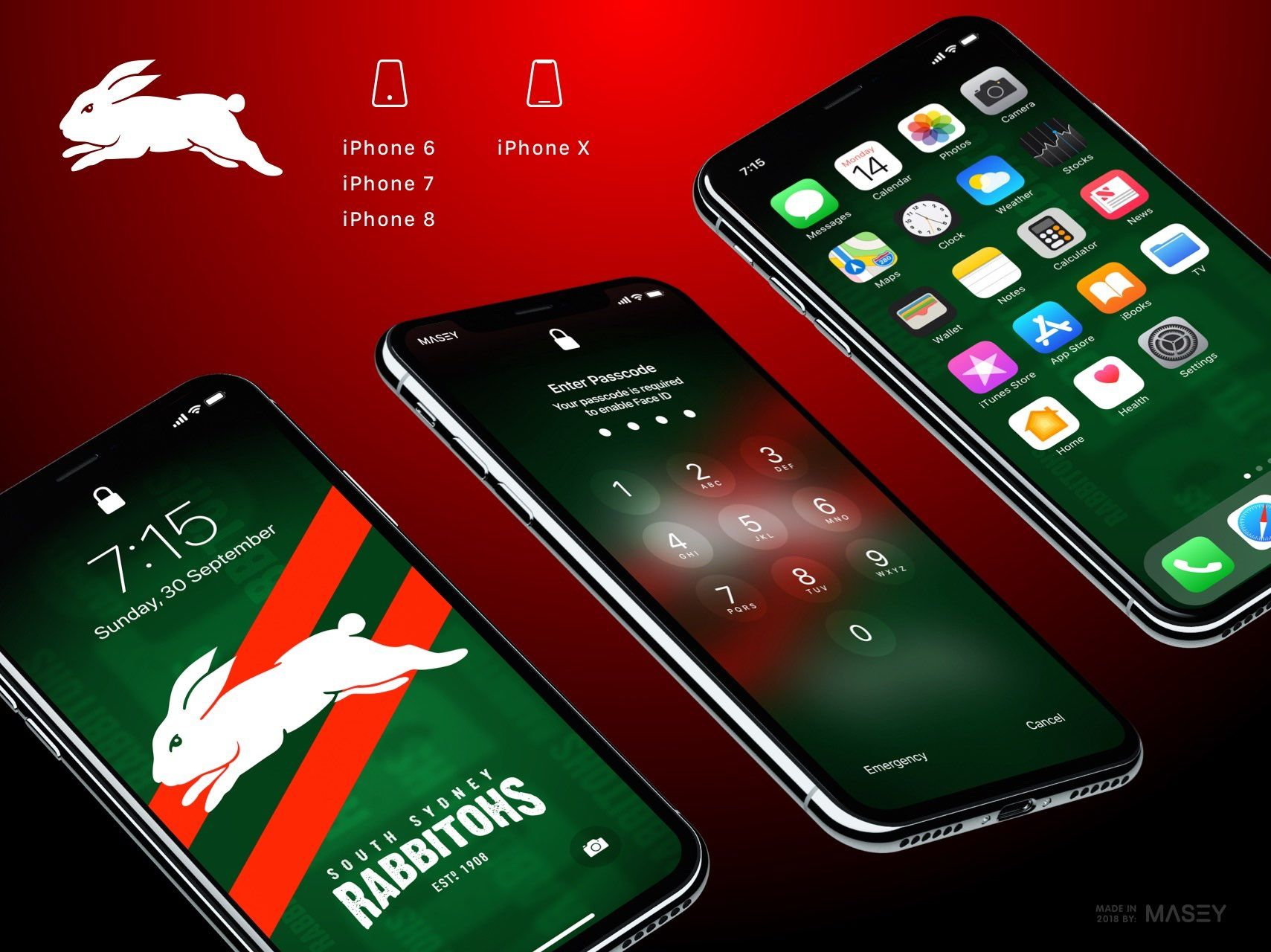 South Sydney Rabbitohs Iphone Wallpaper Iphone Wallpaper Iphone Team Wallpaper
