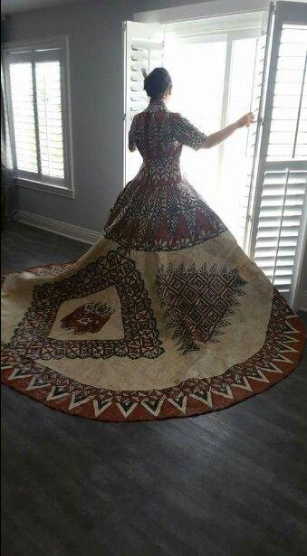 Tongan Ngatu Wedding Dress | Polynesian Creations ...