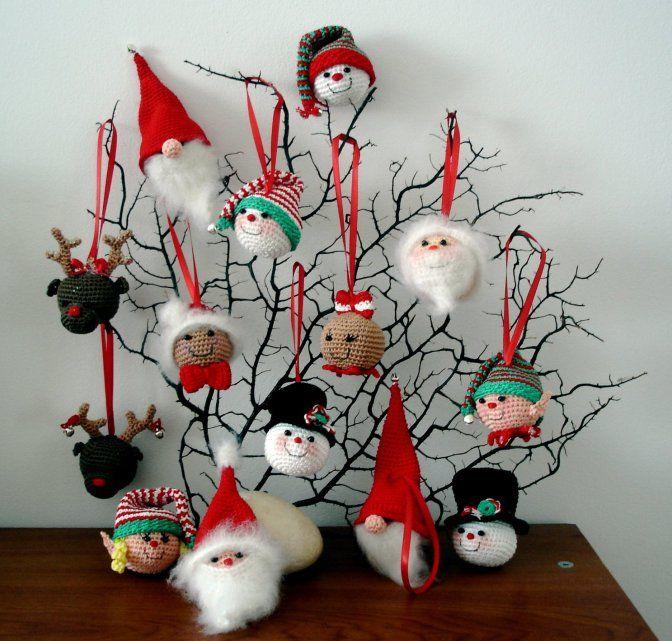 Gratis Haakpatroon Kersthangers Crochet Pinterest Crochet