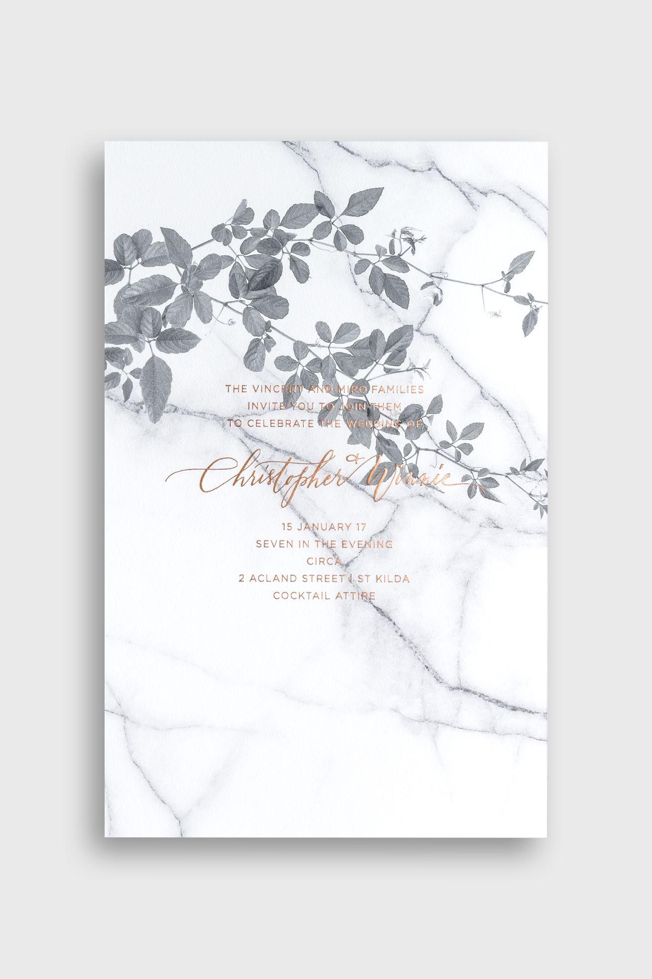 Bliss & Bone / Modern + Romantic Wedding Invitation. Customize ...
