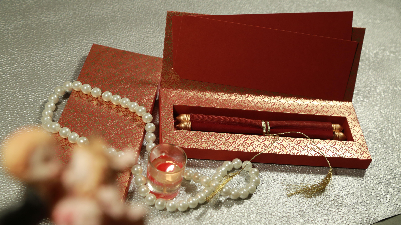 Scroll wedding cards - 123WeddingCards #ScrollCards ...