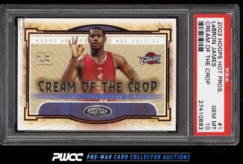 2003 hoops hot prospects cream of the crop lebron james