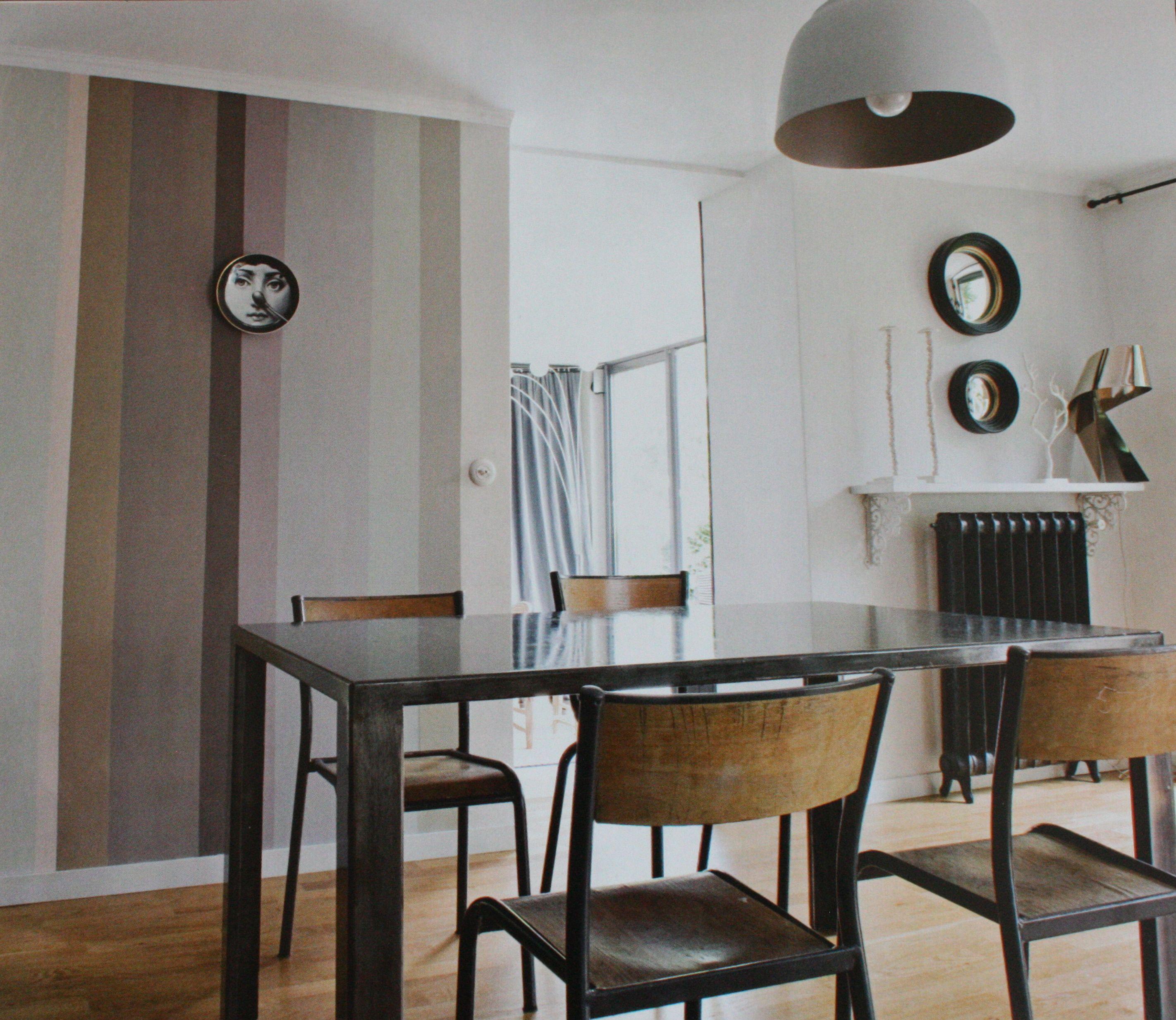d cor mur bande couleur peinture le blog deco de mlc couleur d co pinterest deco deco. Black Bedroom Furniture Sets. Home Design Ideas