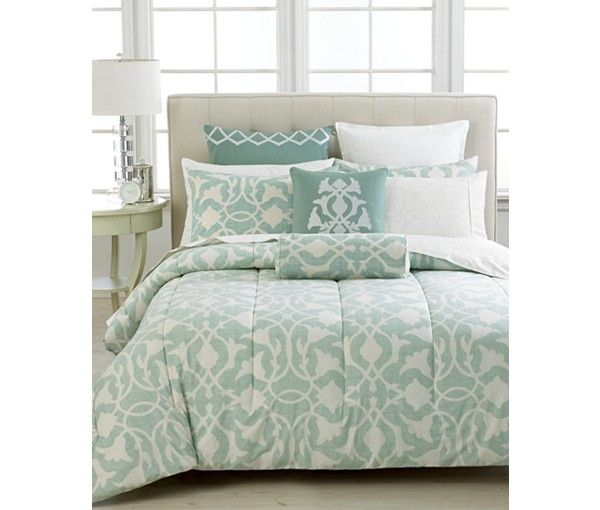 CLOSEOUT! Barbara Barry Poetical Celadon Collection - Duvet Covers - Bed & Bath - Macy's