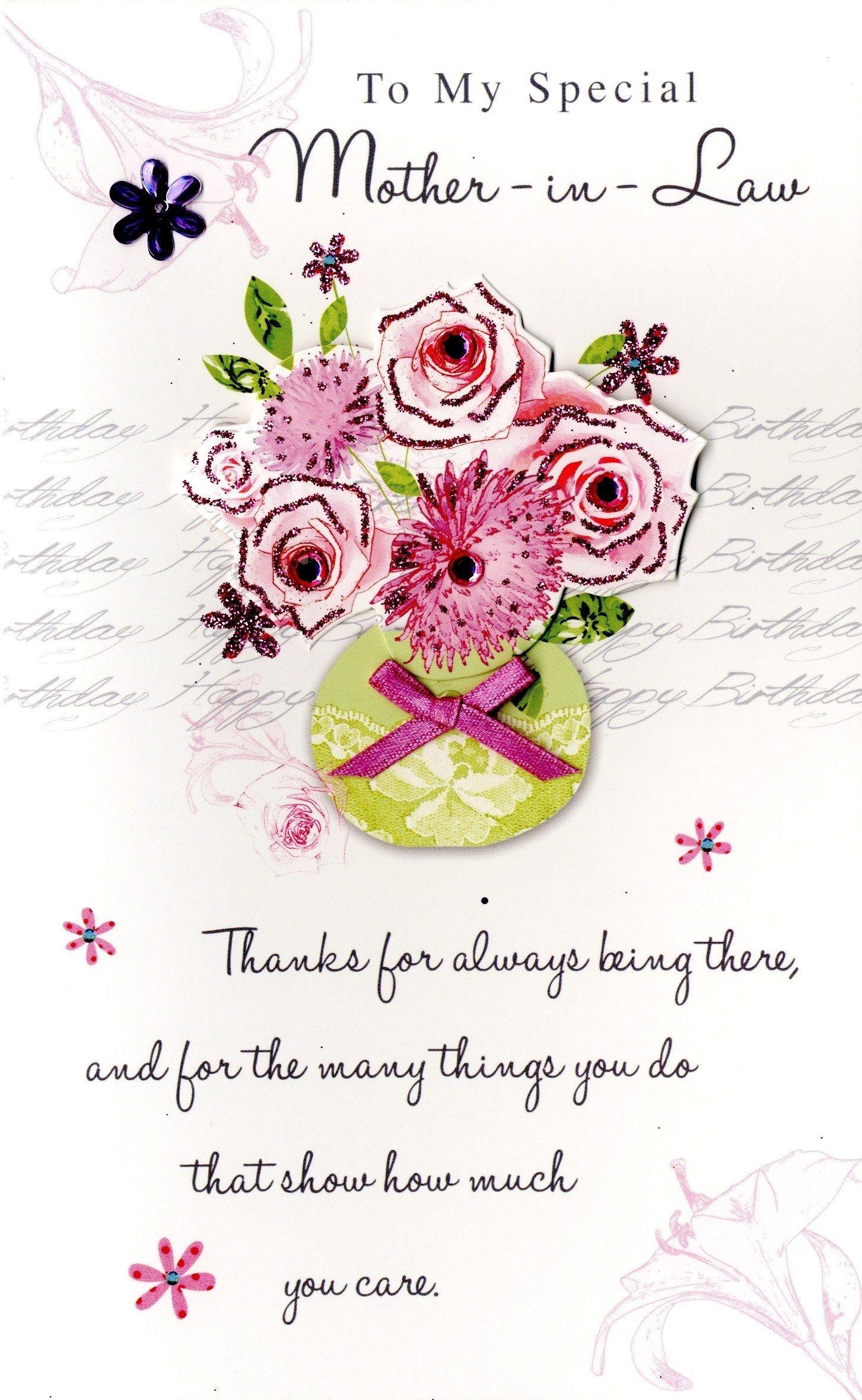 Handmade Happy Birthday Greeting Cards Happy Birthday Mother In – Happy Birthday Greeting Card