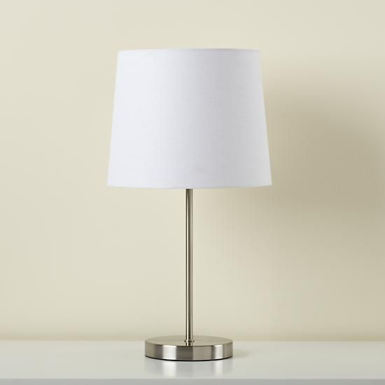 Light years white table shade and nickel base the land of nod light years white table shade and nickel base the land of nod aloadofball Image collections