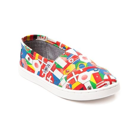 shop for tween toms classic world flags casual shoe in