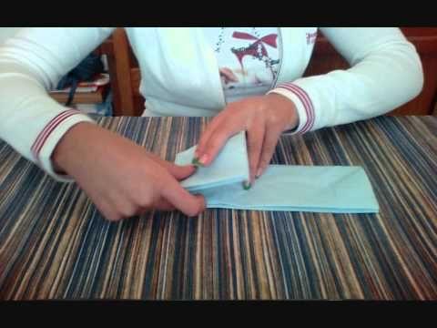 Piegare tovaglioli di carta-FARFALLA