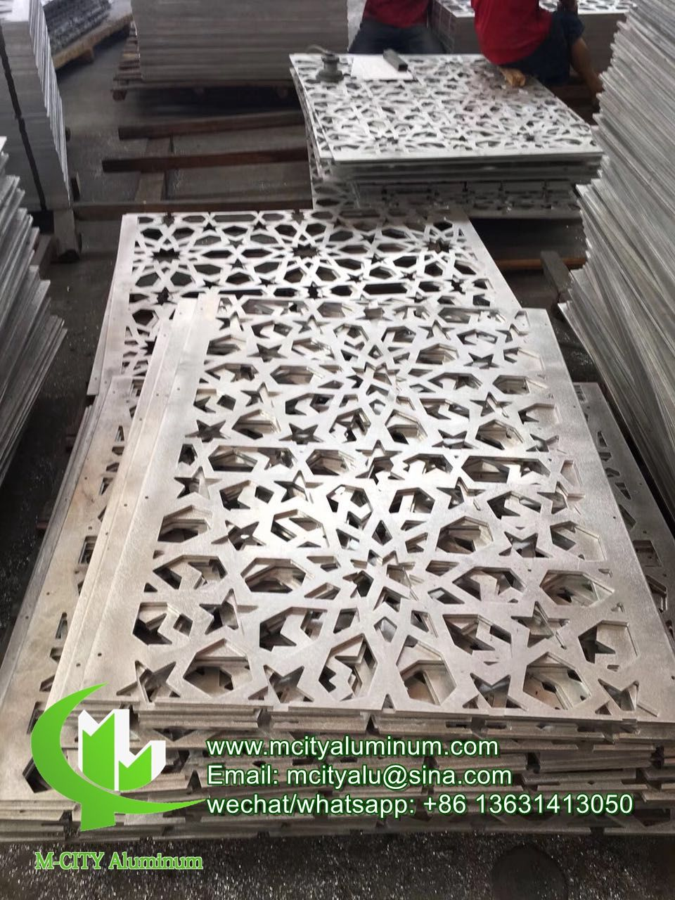 Aluminum Perforated Panel Hollow Decorative Sheet Laser