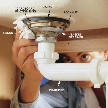 How To Replace A Kitchen Sink Basket Strainer Plumbing