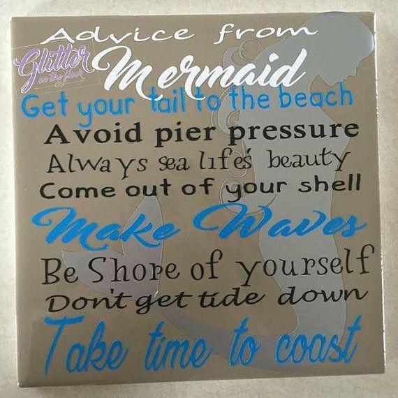 Advice from a Mermaid tile by glitterotfloor on Etsy