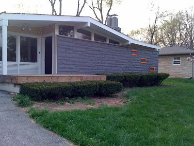 Exterior House Colors Mid Century Grey Painted Brick Google