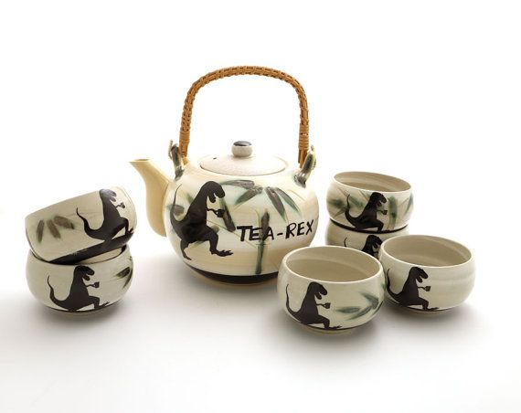 Now Designs Pekoe Cat Tea for Me Teapot and Teacup Set