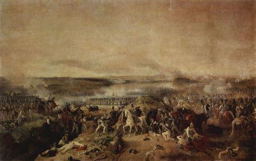 Historienmalerei  Peter von Hess. Die Schlacht bei Borodino. 1843, Öl auf Leinwand ...