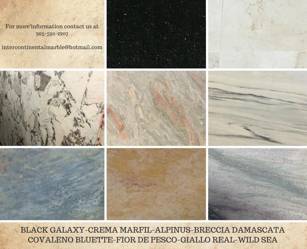 More Natural Stones To Suit Your Needs Black Galaxy Crema Marfil Alpinus Breccia Damascata Covaleno Bluette Fior Di Pesc Natural Stones Stone Granite