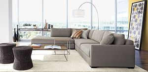 Domino 3 Piece Right Arm Sofa Sectional Crate Barrel Sofa