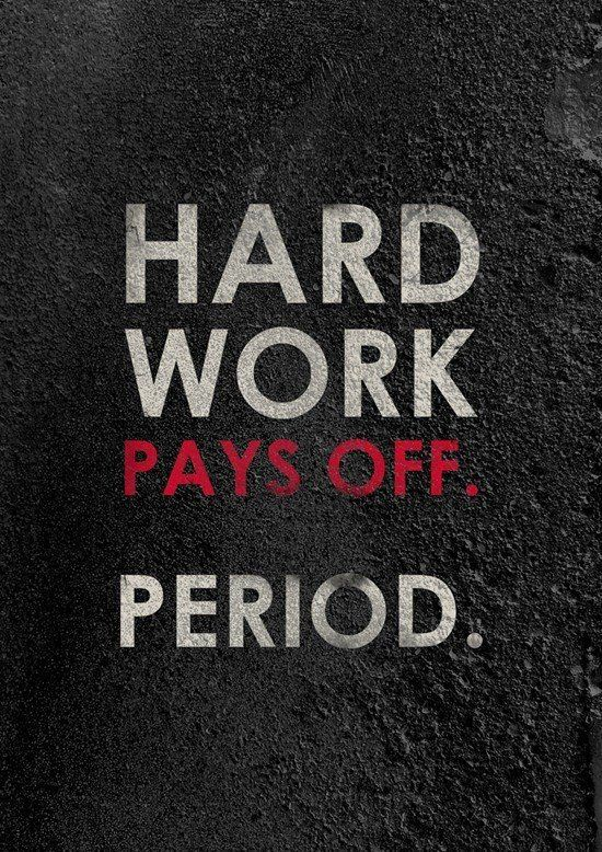Hard Work Pays Off Period Motivational Print Etsy Work Quotes Hard Work Quotes Hard Work Pays Off