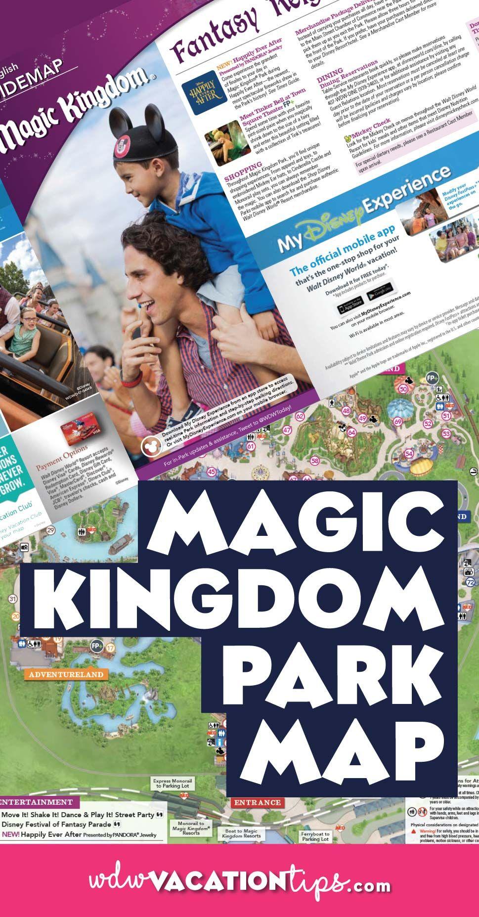 Magic Kingdom Map Disney World | Disney | Pinterest | Disney, Disney ...