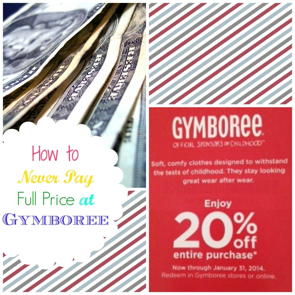 This explains how to NEVER PAY FULL PRICE at Gymboree!!