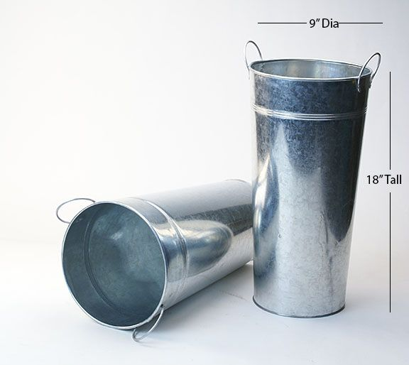 Wholesale Galvanized Containers All Shapes Sizes Buckets Trays