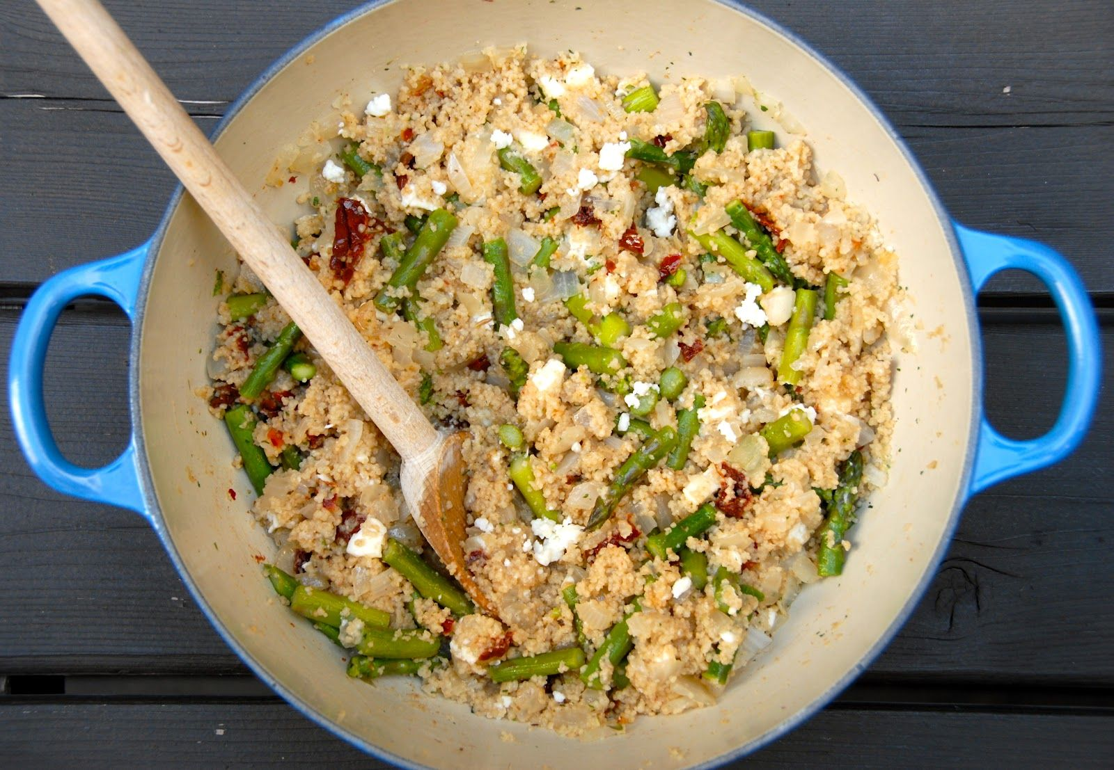 The Savvy Spoon: Couscous Salad with Feta, Asparagus, and Sun-dried Tomatoes