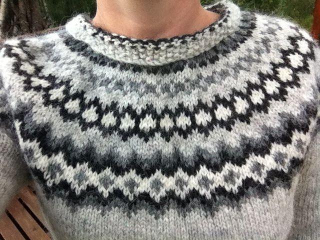 Knitting A Sweater Neckline : Icelandic jumper perspective and neckline